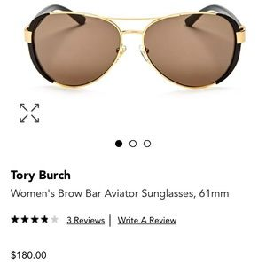 5e4665d455 Tory Burch Accessories - NWT Tory Burch Brow Bar Aviator Sunglasses Black